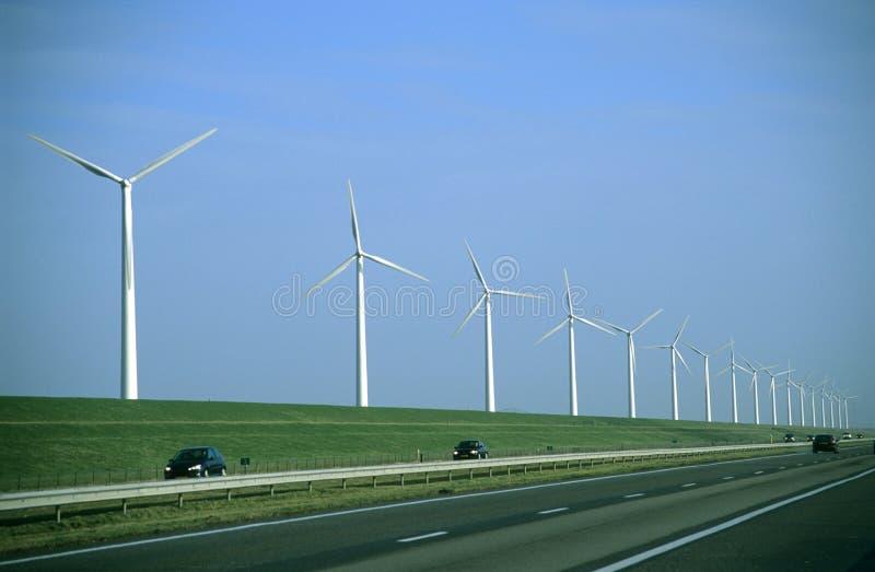 Route de moulin à vent photos stock