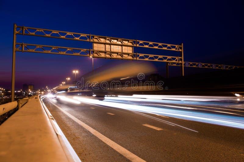 Route de nuit images libres de droits