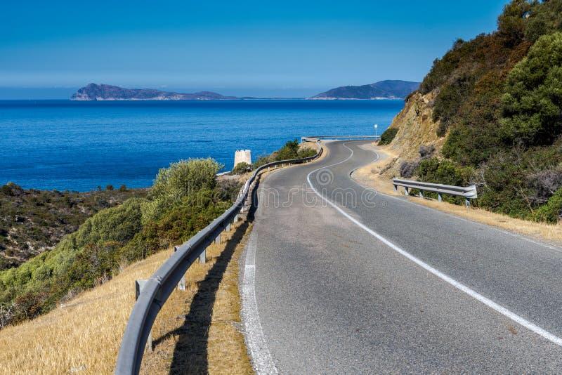 Route de Panorami dans le souyh Sardaigne photo libre de droits