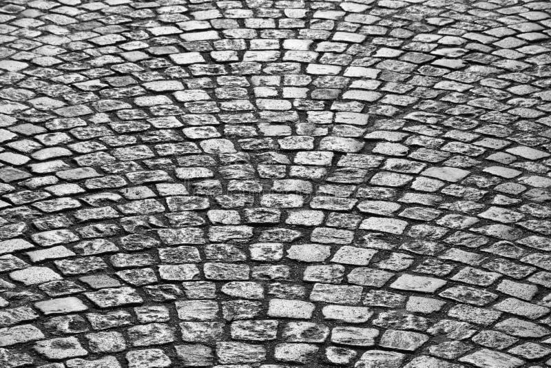 Route de pavé rond à Paris photo libre de droits