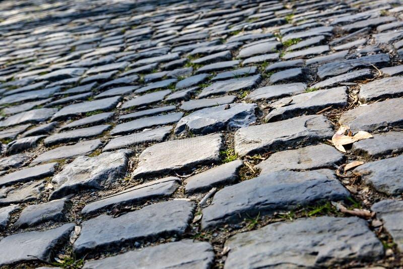 Route de pavé rond de Flandres - détail images stock