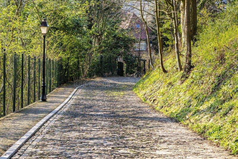 Route de pav? rond de Flandres photos stock