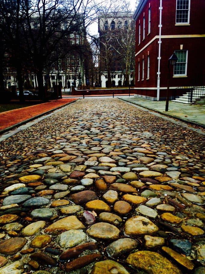 Route de pierre de Philadelphie photographie stock