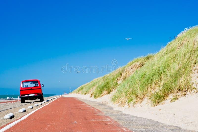 route de plage photos stock