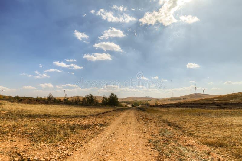Route de région sauvage images libres de droits