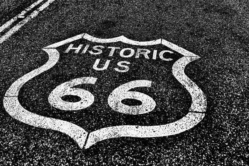 Route 66 de route historique d'autoroute nationale photographie stock libre de droits