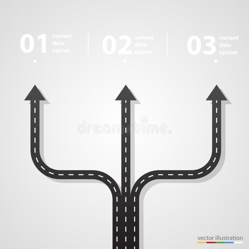 Route de rue et infographics de signe illustration stock