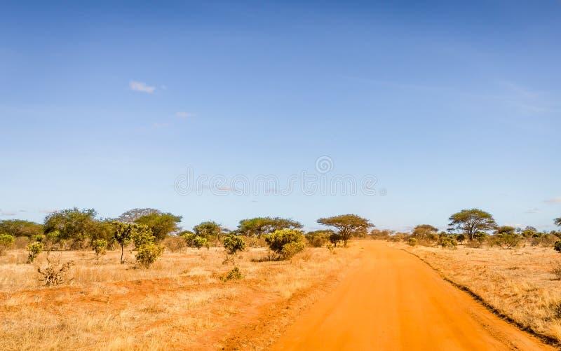 Route de safari au Kenya images libres de droits