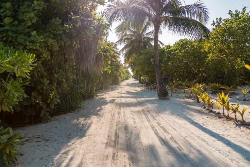 Route de Sandy dans Kuredu photographie stock libre de droits