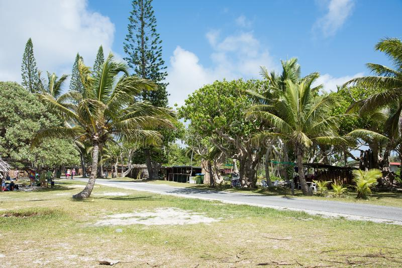 Route de Shoreline à la plage de Yejele images stock