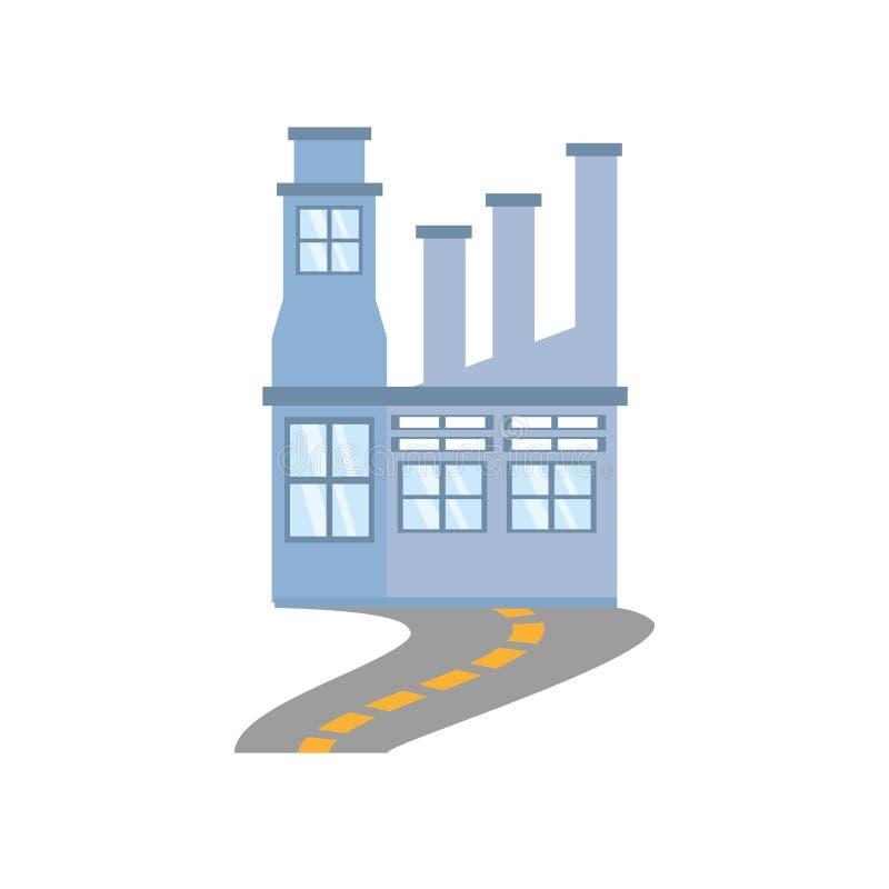 route de structure d'usine de bâtiment illustration libre de droits