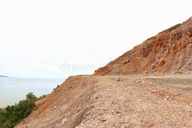 Route de transport Manokwari - Bintuni photo libre de droits