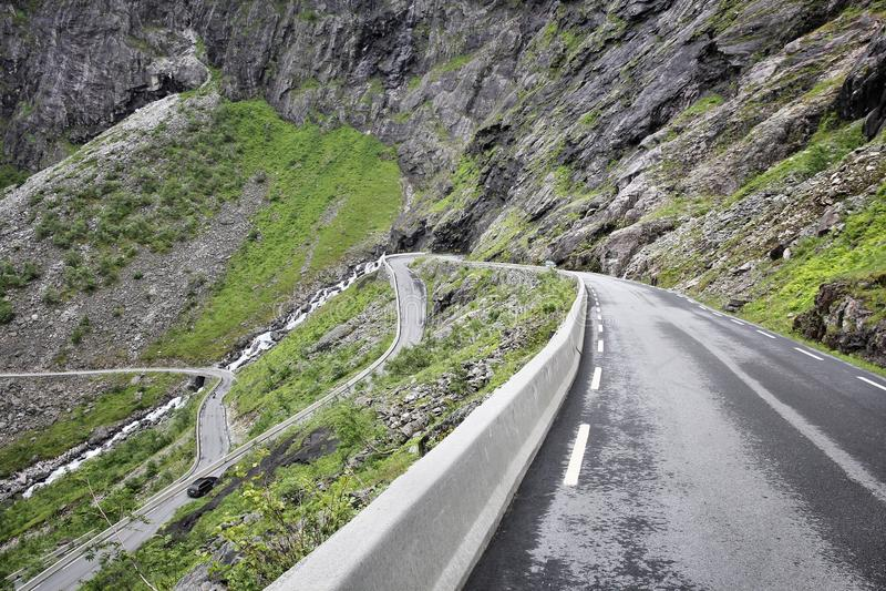 Route de Troll, Norvège photo stock