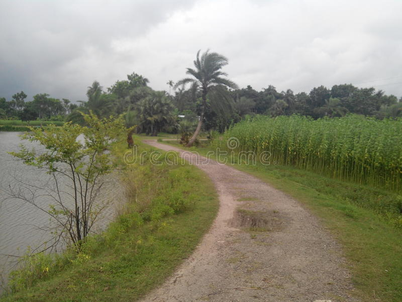 Route de village images libres de droits