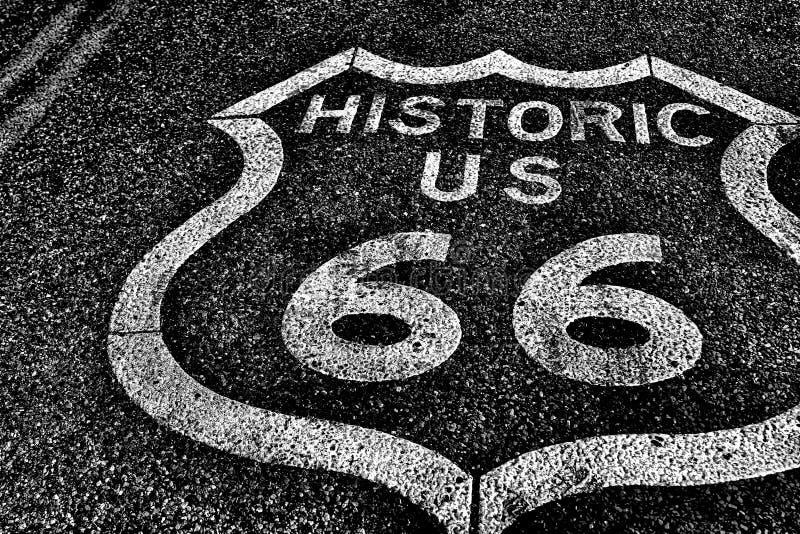 Route 66 der historischen Straße der staatlichen Autobahn stockfotos