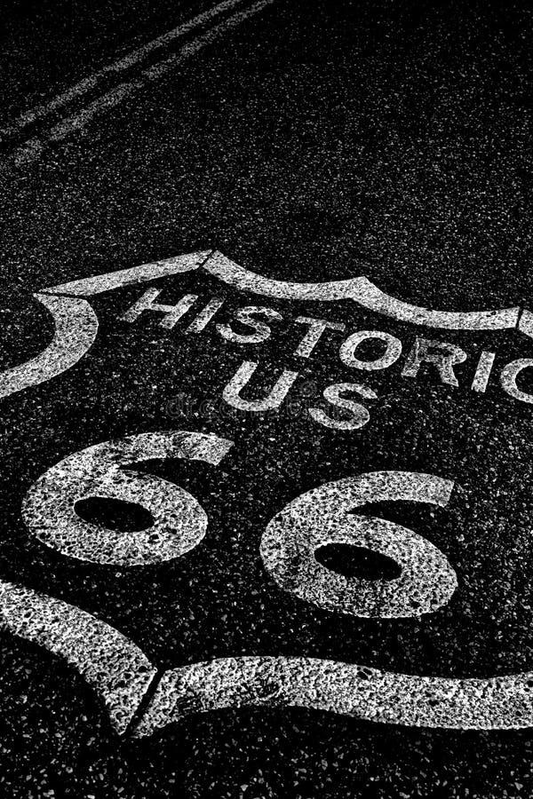 Route 66 der historischen Straße der staatlichen Autobahn stockfoto