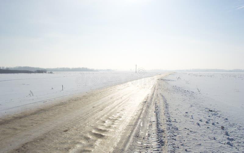 Route des hivers image stock