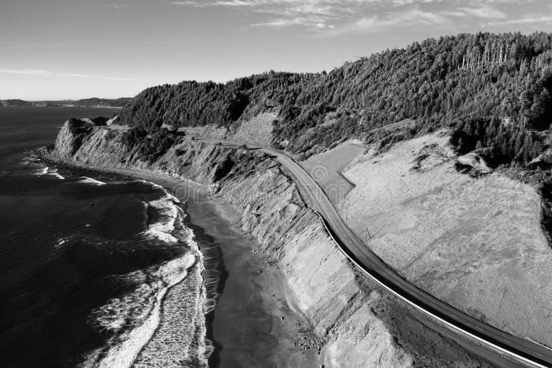 Route 101 des USA Pacifique en Orégon photographie stock libre de droits