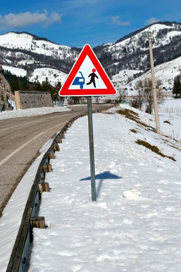 Route drôle de signal photographie stock libre de droits