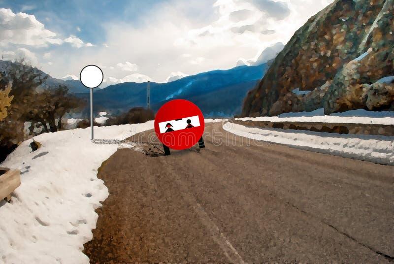 Route drôle de signal photographie stock