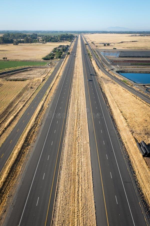 Route droite dans Napa photographie stock libre de droits