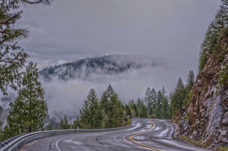 Route du lac Tahoe images stock