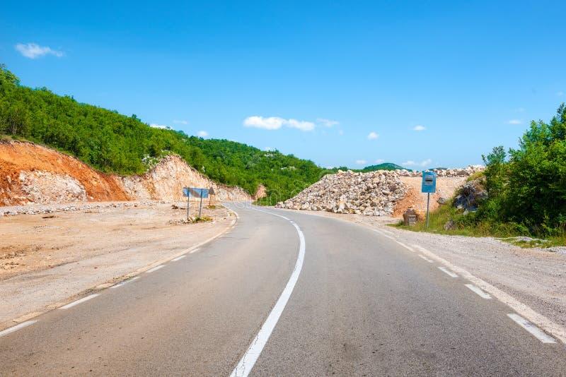 Route du Monténégro photographie stock