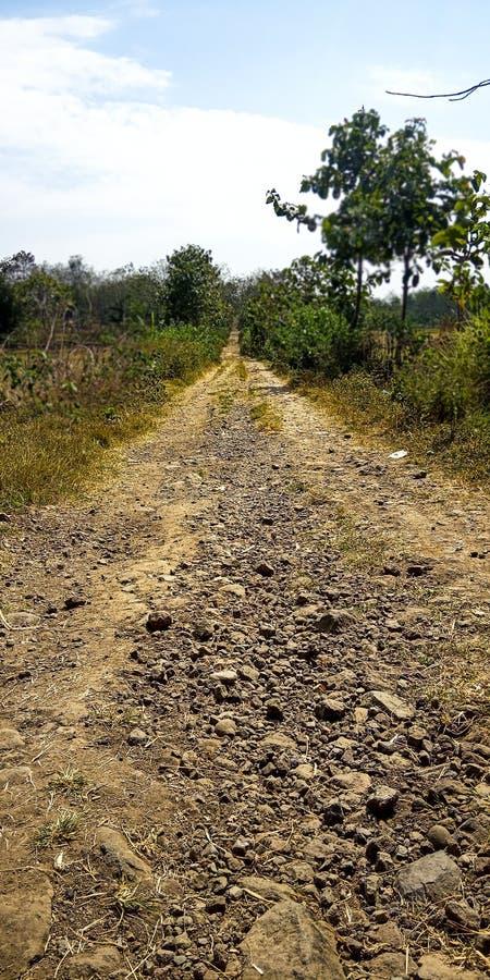 Route du sable et de la pierre photographie stock libre de droits