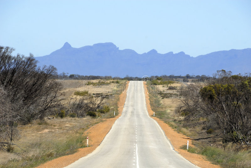 Route en Australie photo stock