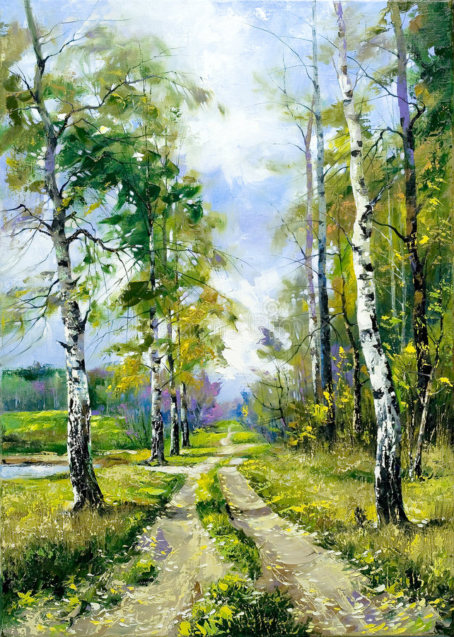 Route en bois photo stock