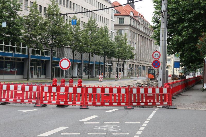 Route en construction photo libre de droits