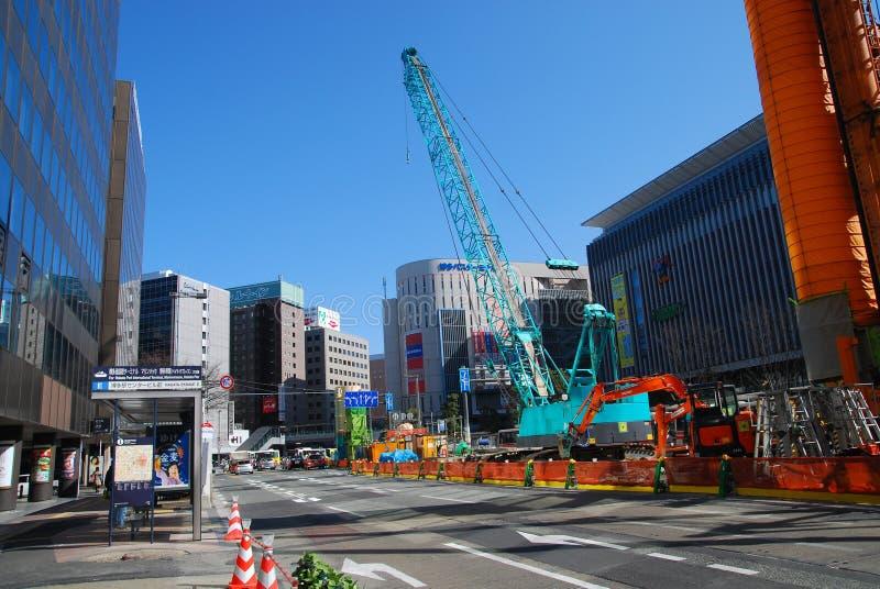Route en construction au Japon photo libre de droits