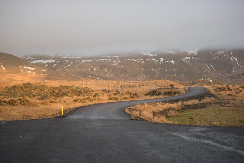 Route en Islande photographie stock libre de droits