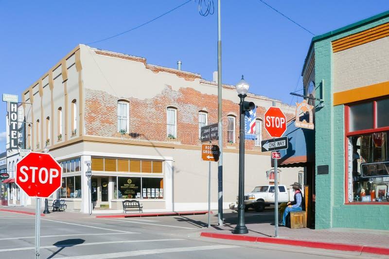 Route 66 en la ciudad de Williams fotografía de archivo