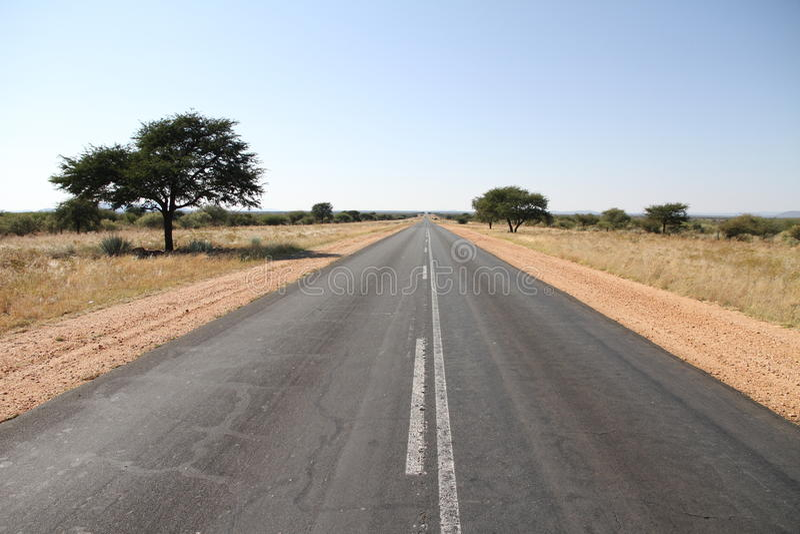 Route en Namibie images stock