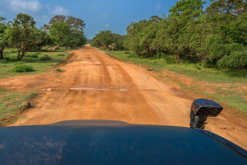 Route en parc national de Yala images libres de droits