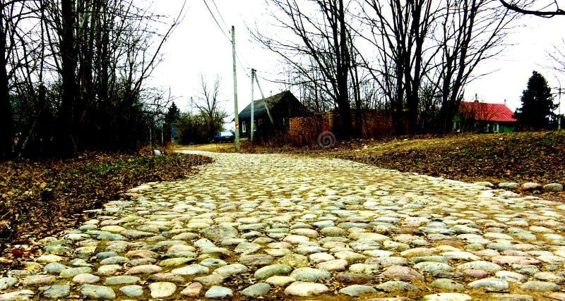 Route en pierre photos libres de droits