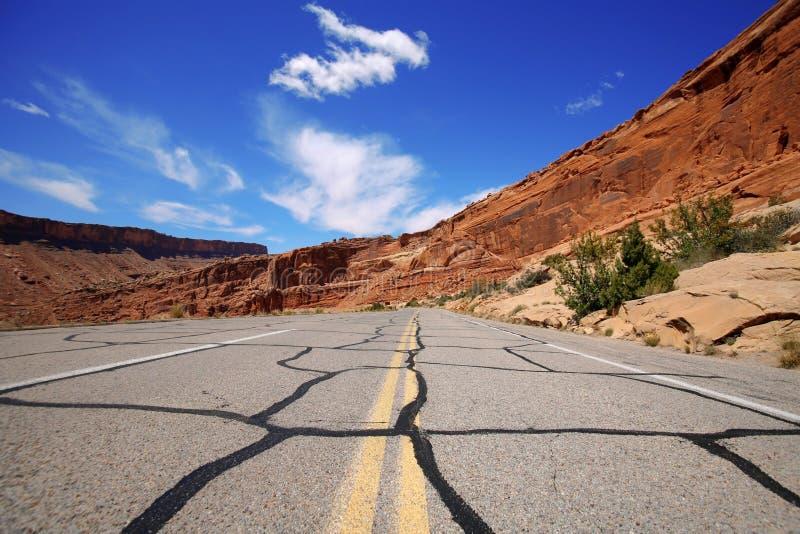 Route en stationnement national de voûtes photographie stock libre de droits
