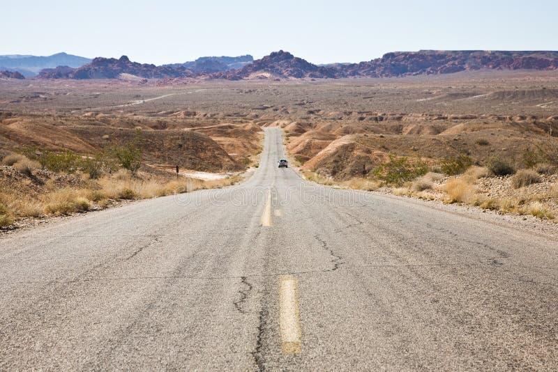 Route en vallée d'incendie photographie stock