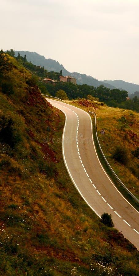 route Espagne bi-directionnelle photo libre de droits