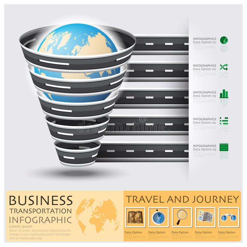 Route et rue globales pour des affaires Infograph de voyage et de voyage illustration stock