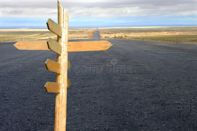 Route et sens image stock
