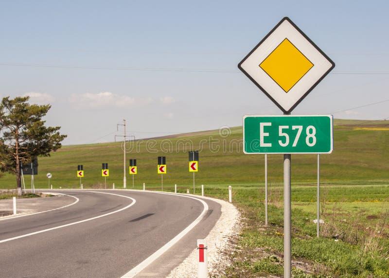 Route européenne photo libre de droits