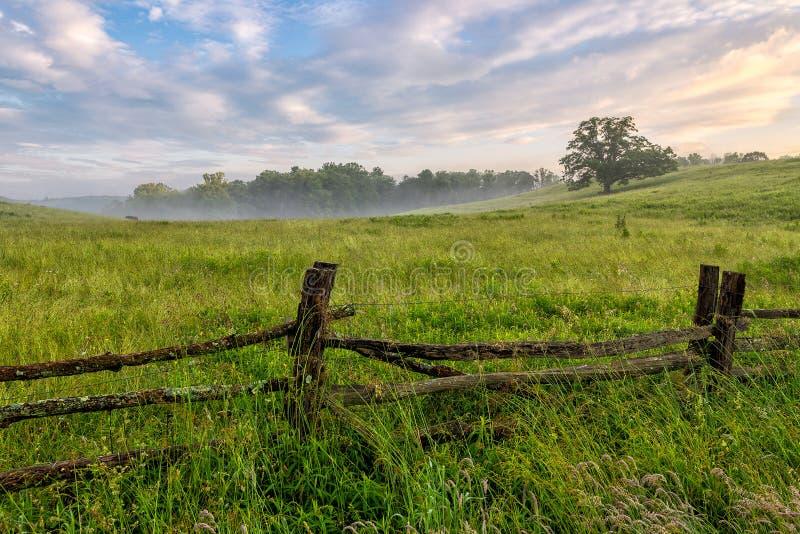 Route express bleue d'arête, la Caroline du Nord, été, scénique photos libres de droits