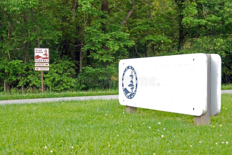 Route express bleue de Ridge photographie stock libre de droits