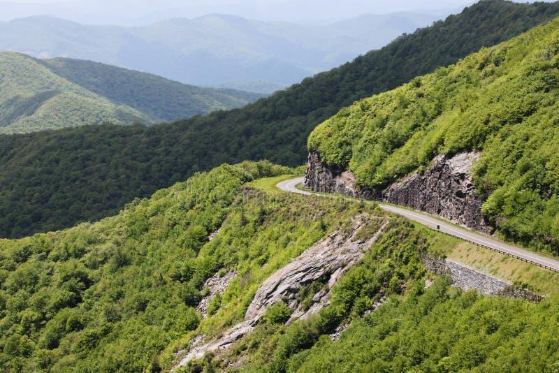Route express bleue la Caroline du Nord occidentale de Ridge images libres de droits