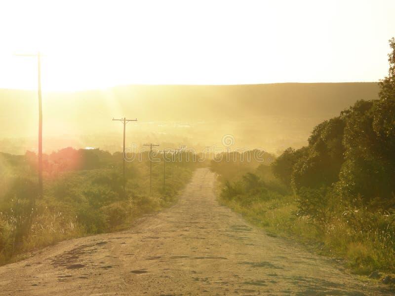 Route extérieure poussiéreuse, Mina Calvero, Cordoue photographie stock libre de droits