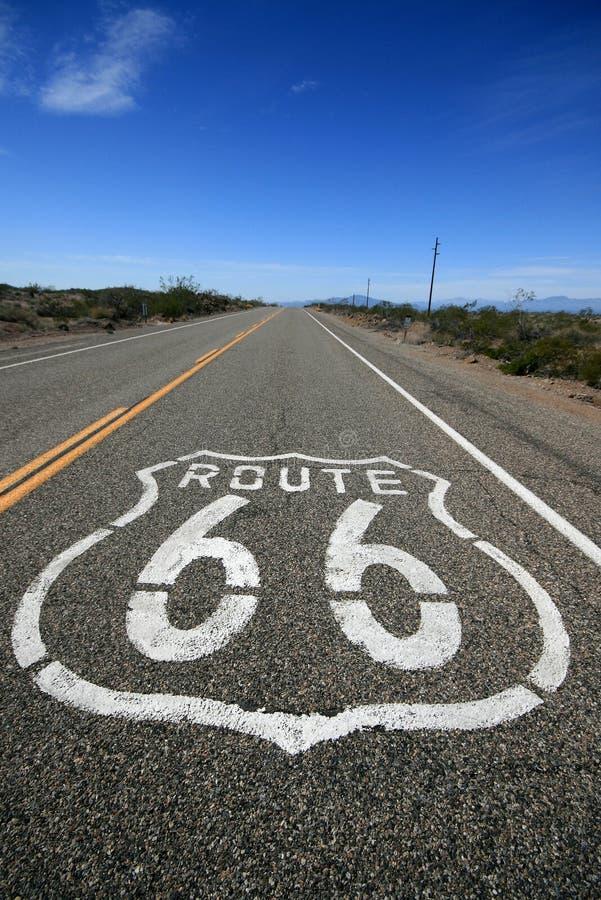 route för 66 Kalifornien arkivfoton