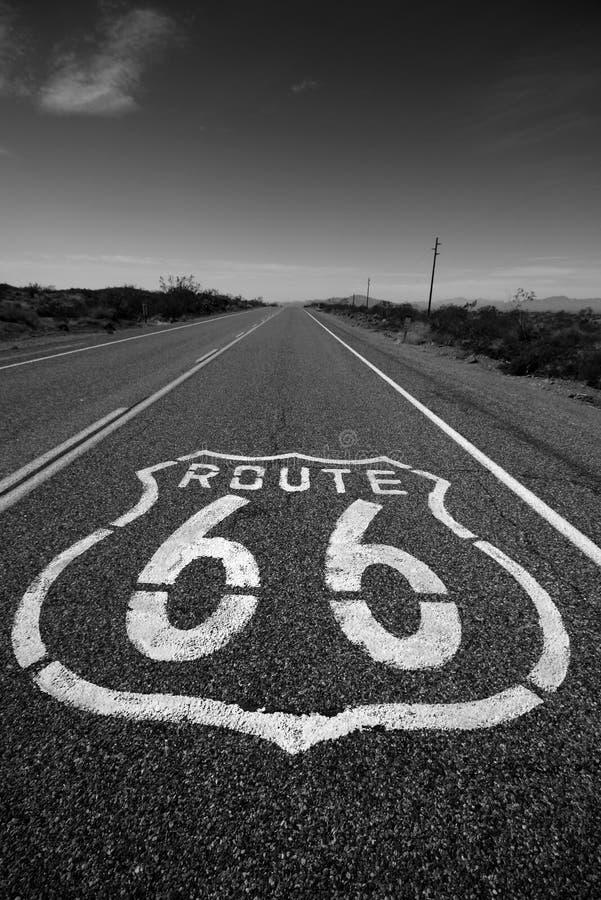 route för 66 Kalifornien fotografering för bildbyråer