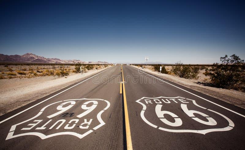 Route 66 famoso fotografía de archivo libre de regalías